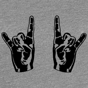 2 Cool Metal räcker finger T-shirts - Premium-T-shirt dam