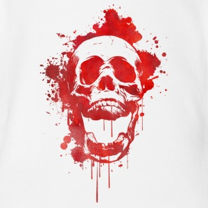 Blood splatter skull / Death Skull Shirts - Organic Short-sleeved Baby Bodysuit
