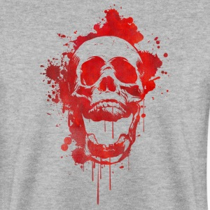 Blood splatter kranium / Death Skull  Sweatshirts - Herre sweater