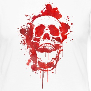 Blood splatter skull / Death Skull Long Sleeve Shirts - Women's Premium Longsleeve Shirt