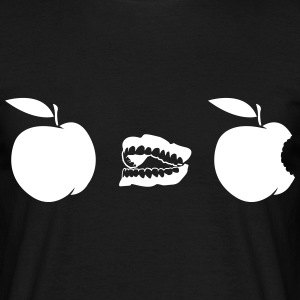 Appel bijten Evolution T-shirts - Mannen T-shirt