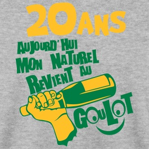 20 ans naturel revient goulot anniversai Sweat-shirts - Sweat-shirt Homme