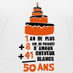 50 ans poignee amour cheveux blanc addit Tee shirts - T-shirt col V Femme