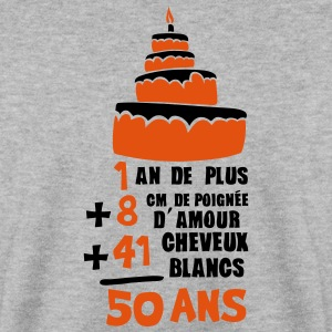 50 ans poignee amour cheveux blanc addit Sweat-shirts - Sweat-shirt Homme