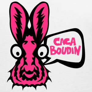 lapin caca boudin bulle rigolo Tee shirts - T-shirt col V Femme