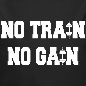 No train no gain Sudaderas - Body orgánico de manga larga para bebé