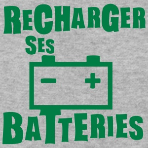 recharger batteries expression Sweat-shirts - Sweat-shirt Homme