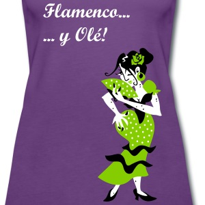 Spanish Woman Flamenco  - Women's Premium Tank Top