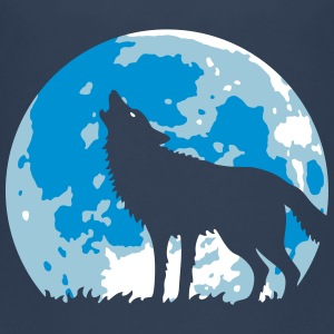 Heulender Wolf Bei Vollmond (3C) T-Shirts - Teenager Premium T-Shirt