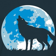 Howling Wolf At Full Moon (3C) T-Shirts