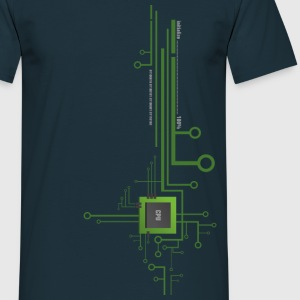 Works with CPU Shirt top/down - Männer T-Shirt