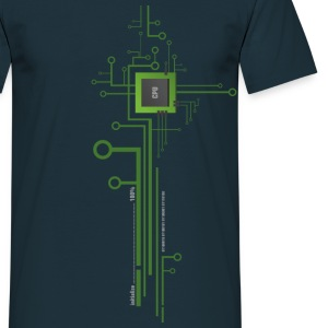 Works with CPU Shirt - Männer T-Shirt