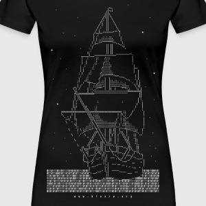 ASCII Pirate Ship T-Shirts - Frauen Premium T-Shirt