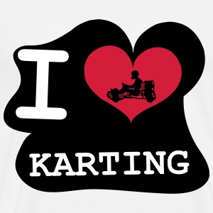 I Love Karting T-Shirts - Men's Premium T-Shirt