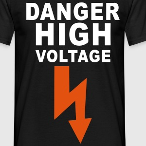 danger high voltage Tee shirts - T-shirt Homme