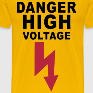 danger high voltage T-Shirts - Men's Premium T-Shirt