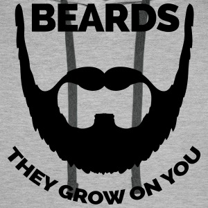 Beards Grow On You Hoodies & Sweatshirts - Men's Premium Hoodie