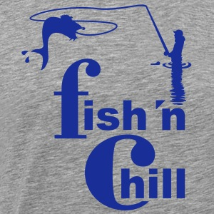 fish 'n chill (1c) T-Shirts - Men's Premium T-Shirt