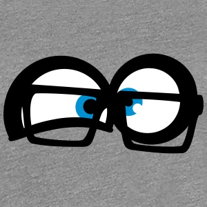 Mad Scientist nerd geek eyes T-Shirts - Women's Premium T-Shirt
