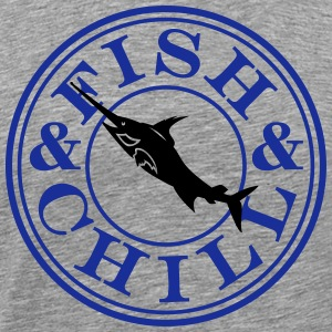 fish & chill (c, 1c) T-Shirts - Men's Premium T-Shirt