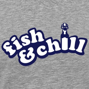 fish & chill (a, 2c) T-Shirts - Men's Premium T-Shirt