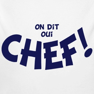 On dit oui chef mono Hoodies - Longlseeve Baby Bodysuit