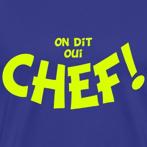 On dit oui chef mono T-shirts - Herre premium T-shirt