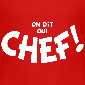 On dit oui chef mono Shirts - Kinderen Premium T-shirt
