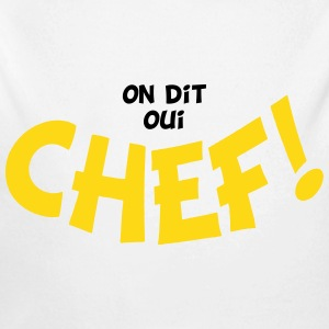 On dit oui chef 2 couleurs Sudaderas - Body orgánico de manga larga para bebé