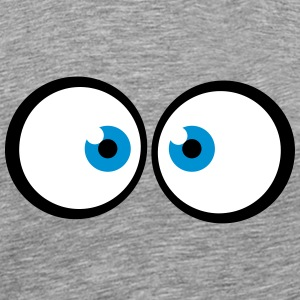 Anxious cross-eyed blue cartoon eyes T-Shirts - Men's Premium T-Shirt