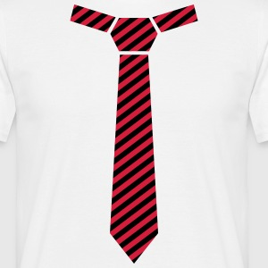 Gestreifte Krawatte, Striped Tie T-Shirts - Men's T-Shirt