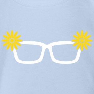Nerd glasses Shirts - Organic Short-sleeved Baby Bodysuit