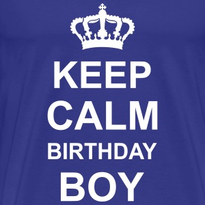 keep_calm_birthday_boy_g1 T-shirts - Mannen Premium T-shirt