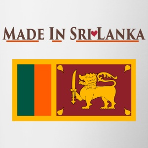 National Flag of Sri Lanka Bottles & Mugs - Contrasting Mug