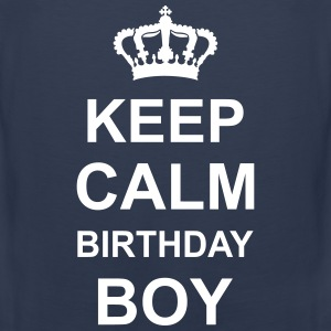 keep_calm_birthday_boy_g1 Tanktops - Mannen Premium tank top
