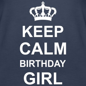 keep_calm_birthday_girl_g1 Toppar - Premiumtanktopp dam