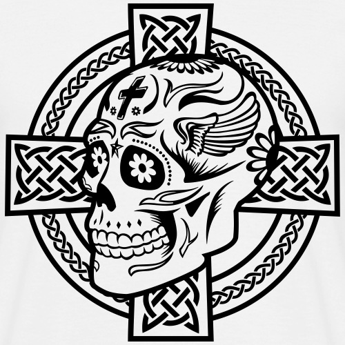 Celtic Cross & Skull