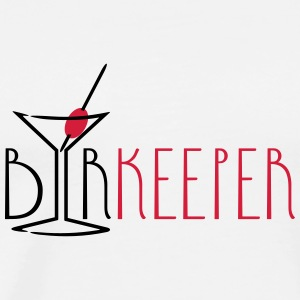 barkeeper (cocktail glass, 2c) T-Shirts - Männer Premium T-Shirt