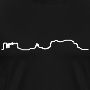 Monument Valley, Arizona mountains line (1c) T-Shirts - Men's Premium T-Shirt