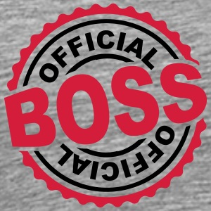 Officieel Boss stempel T-shirts - Mannen Premium T-shirt
