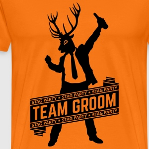 Team Groom / Stag Party (JGA / 1C) T-Shirts - Männer Premium T-Shirt