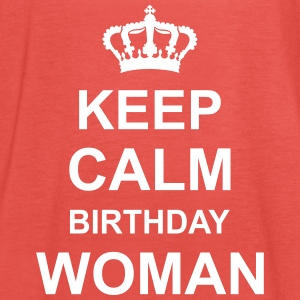 keep_calm_birthday_woman_g1 Tops - Vrouwen tank top van Bella