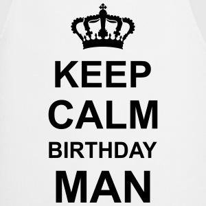 keep_calm_birthday_man_g1 Delantales - Delantal de cocina
