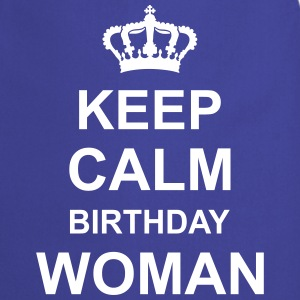 keep_calm_birthday_woman_g1 Delantales - Delantal de cocina