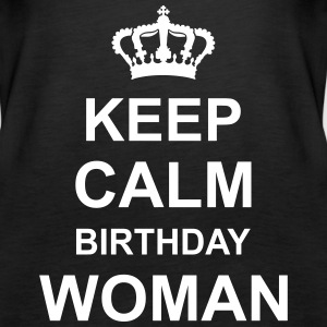 keep_calm_birthday_woman_g1 Topit - Naisten premium hihaton toppi