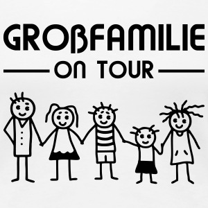 Strichmännchen - Goßfamilie on tour T-Shirts - Frauen Premium T-Shirt