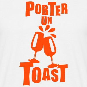 porter un toast verre expression Tee shirts - T-shirt Homme