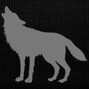 Howling Wolf (Silhouette) Caps & Hats - Winter Hat