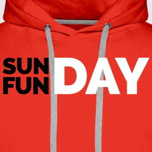 Sunday Funday  Hoodies & Sweatshirts - Men's Premium Hoodie