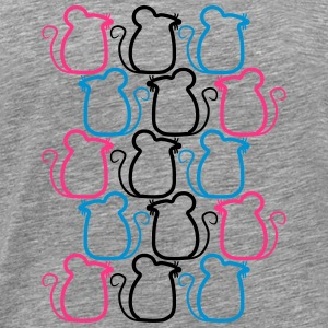 Party mice pattern design T-Shirts - Men's Premium T-Shirt